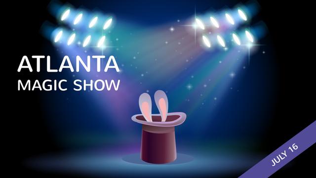 Plantilla de diseño de Magic Show Bunny in Magician Hat Full HD video
