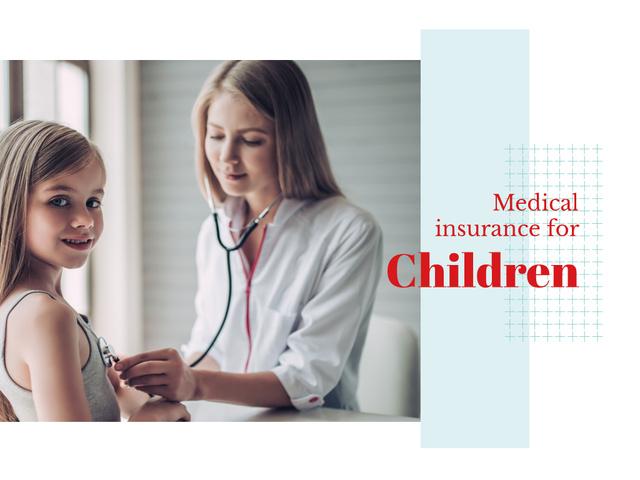 Pediatrician examining child Presentation Design Template
