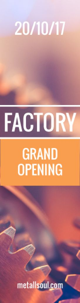 Factory grand opening banner — Создать дизайн