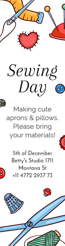 Sewing day event  — Створити дизайн