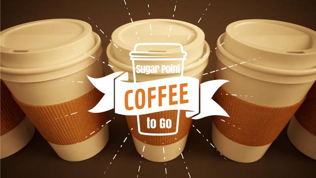 Modèle de visuel Coffee Shop Offer Take Away Cups - Full HD video