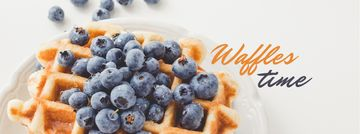 Recipe Ad with Tasty Waffle