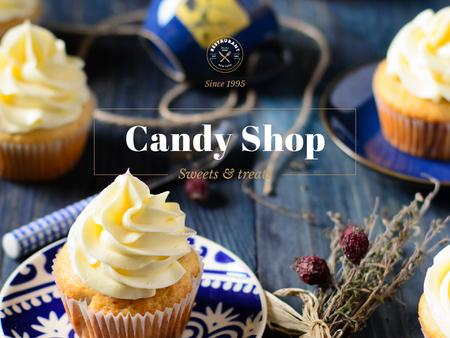 Plantilla de diseño de Candy shop Offer Presentation