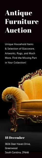 Designvorlage Antique Furniture Auction Luxury Yellow Armchair für Skyscraper