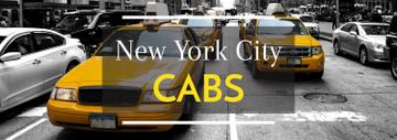 Taxi Cars in New York | Tumblr Banner Template