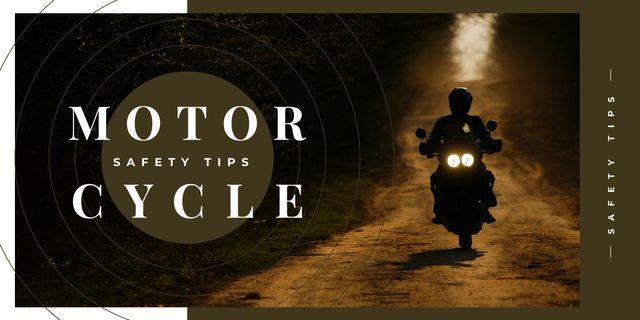 Biker riding his motorcycle Imageデザインテンプレート