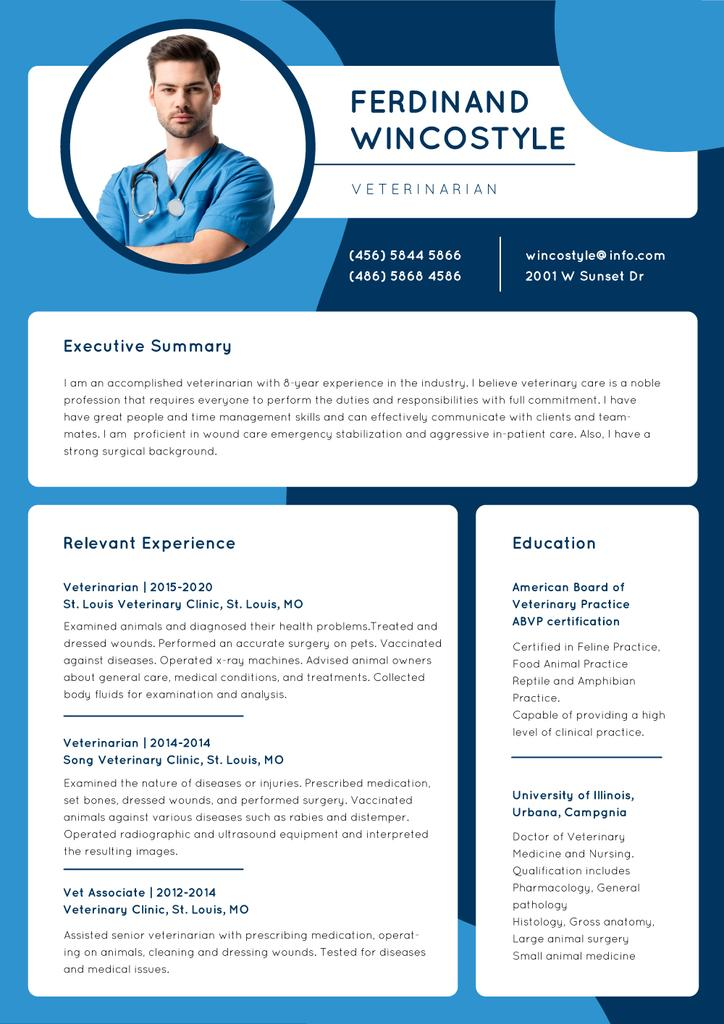 Medicine skills and experience Resumeデザインテンプレート