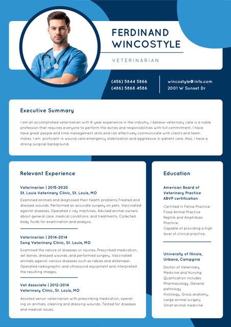 Medicine skills and experience Resume – шаблон для дизайну