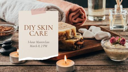 Template di design Spa Salon Offer Skincare Products and Soap FB event cover
