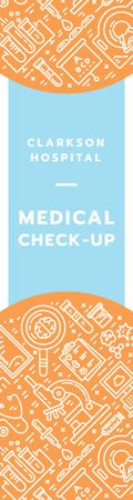 Medical check-up banner Skyscraper Modelo de Design