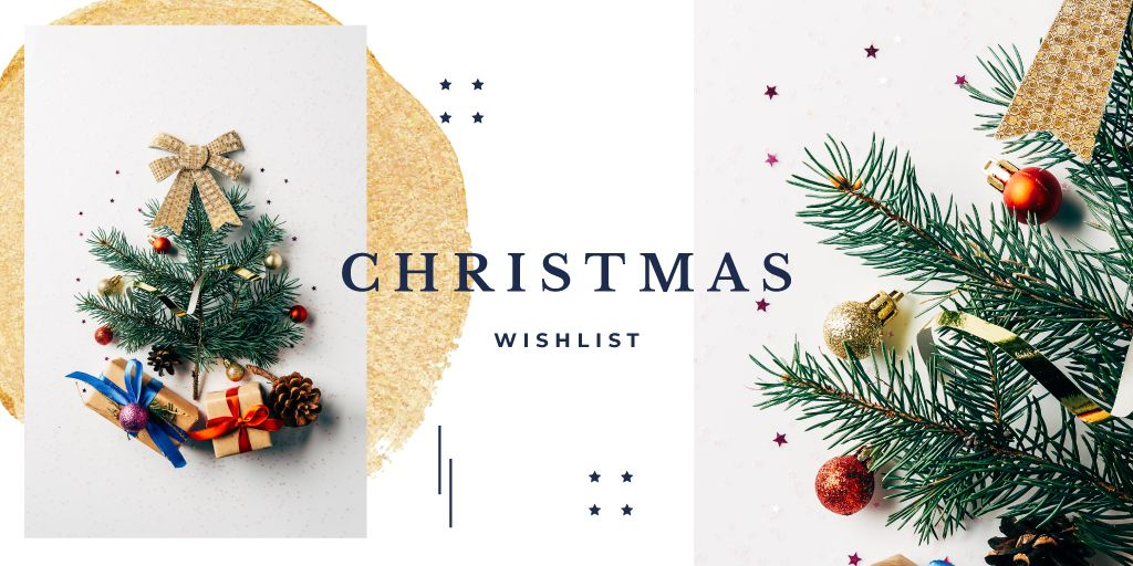 Stylized Christmas tree and gifts — Create a Design