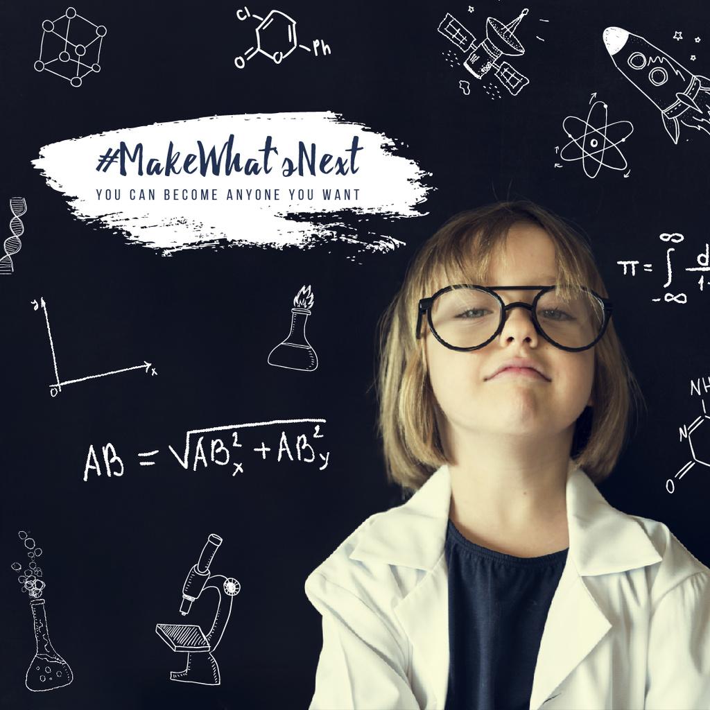 Little girl scientist — ein Design erstellen