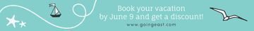 Book your vacation banner