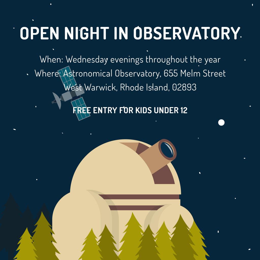 Open night in Observatory invitation — Створити дизайн