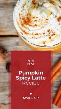 Plantilla de diseño de Pumpkin spice latte Instagram Story