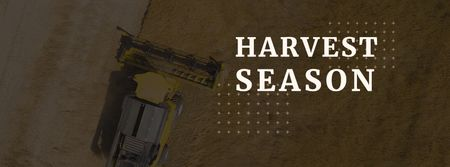 Harvest season with tractor in field Facebook cover Modelo de Design