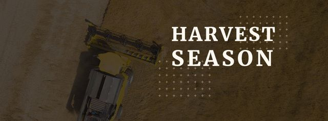 Harvest season with tractor in field Facebook cover Modelo de Design