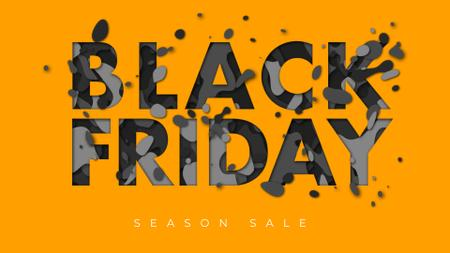 Template di design Black Friday inscription Full HD video