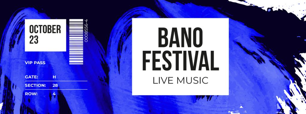 Live Music Festival with Smeared Paint - Bir Tasarım Oluşturun