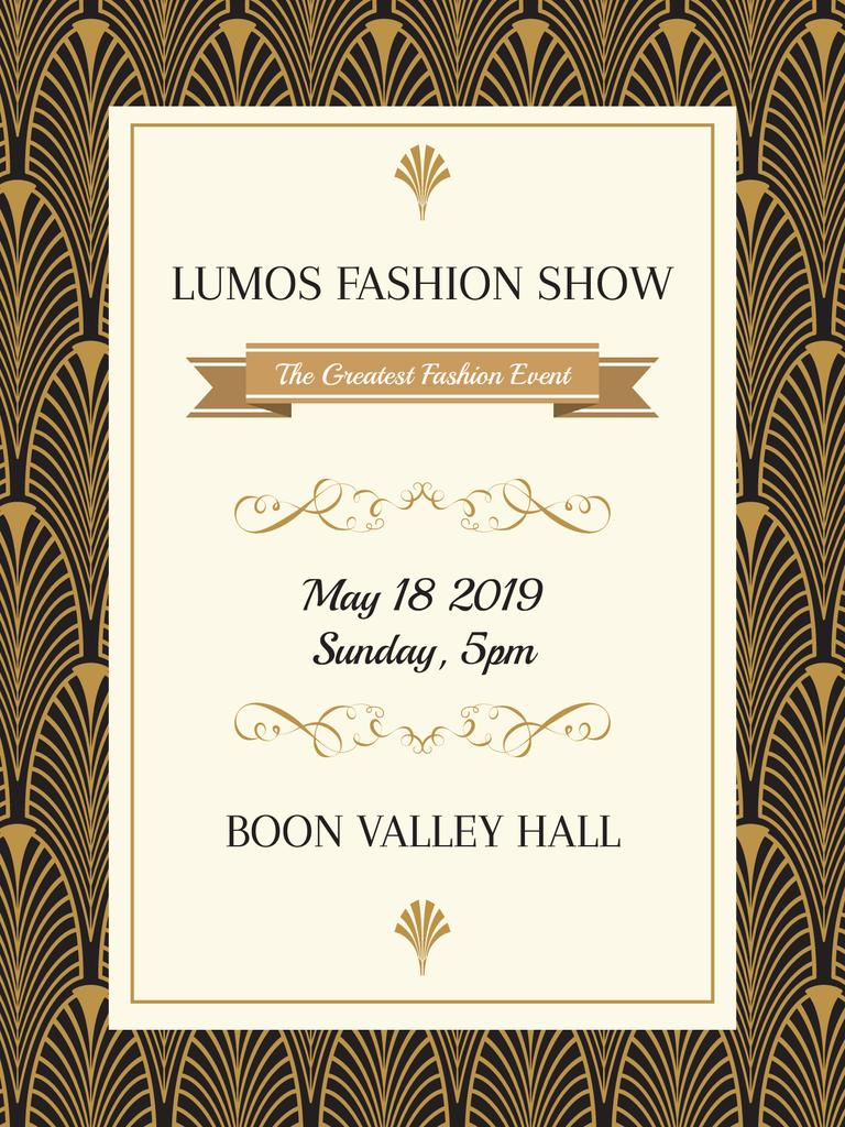 Fashion Show Invitation Art Deco Pattern – Stwórz projekt