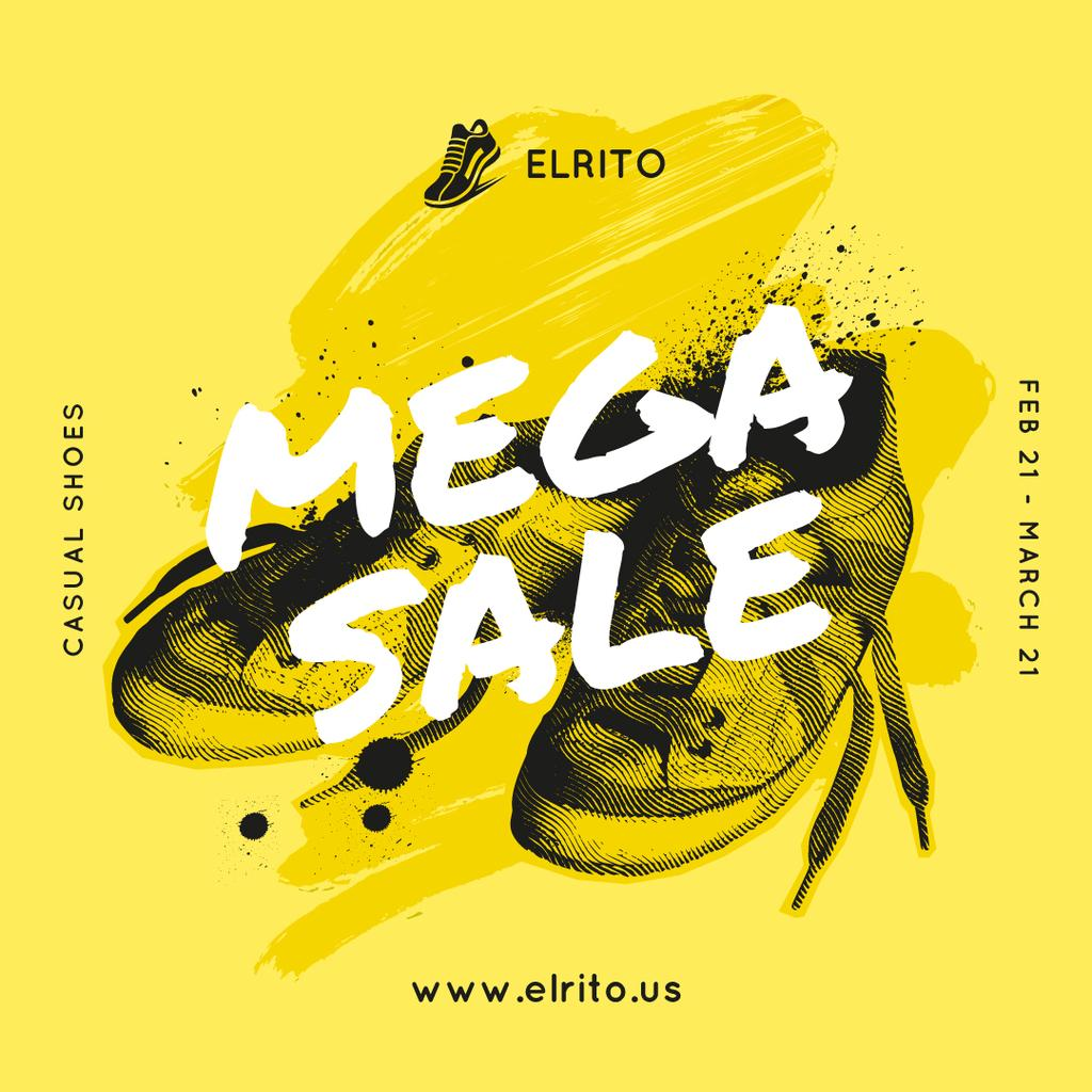 Shoes Sale Sneakers in Yellow — Maak een ontwerp