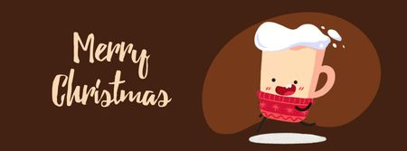 Running Christmas cup of cocoa Facebook Video cover Modelo de Design