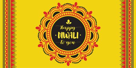 Happy Diwali celebration Image Design Template