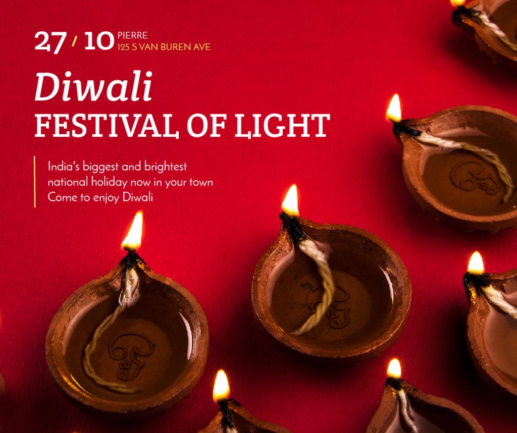 Happy Diwali celebration lamps — Crear un diseño