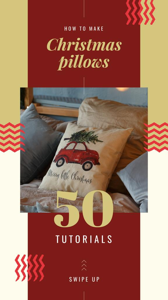 Pillow with Christmas tree — Create a Design