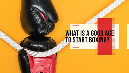 Template di design Boxing Guide Gloves in Red Youtube Thumbnail