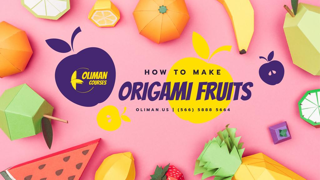 Origami Classes Promotion Paper Fruits Collection — Crear un diseño