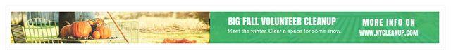 Ontwerpsjabloon van Leaderboard van Big fall volunteer cleanup