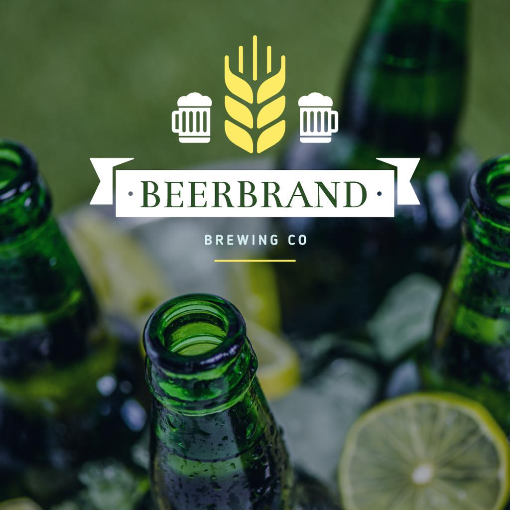 Brewing Company Ad Beer Bottles in Ice — ein Design erstellen