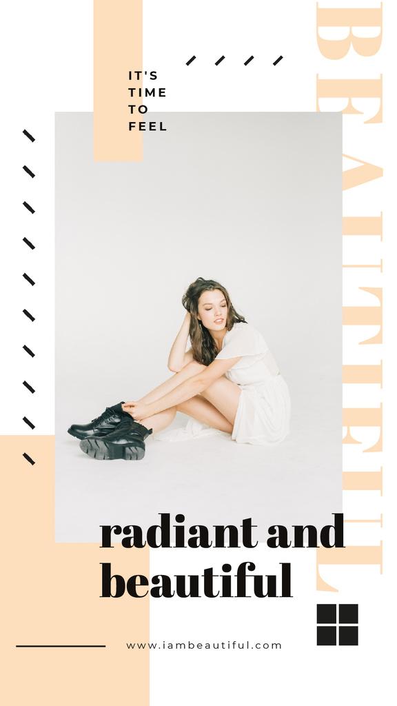Clothes Sale Woman in White Dress — ein Design erstellen