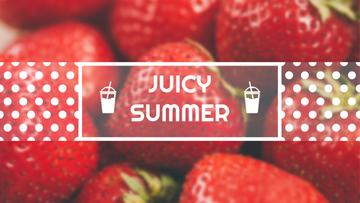 Summer Offer Red Ripe Strawberries | Youtube Channel Art