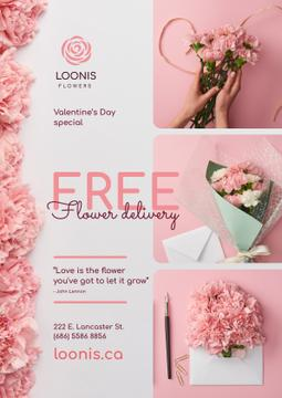 Valentine's Day Flowers Delivery Offer Pink Carnations