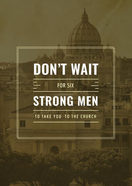 Invitation to christianity church Poster Modelo de Design