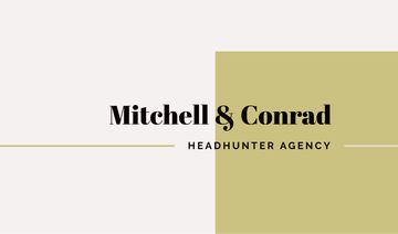 headhunter agency business card