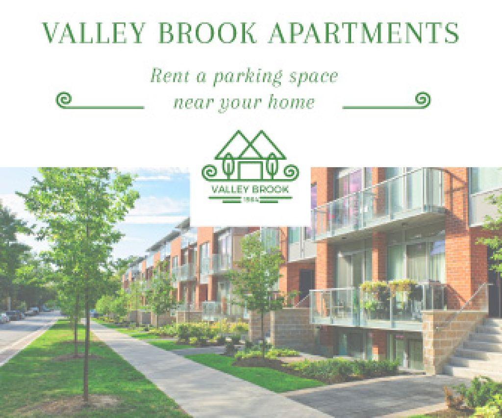 Valley brooks apartments advertisement — Crear un diseño