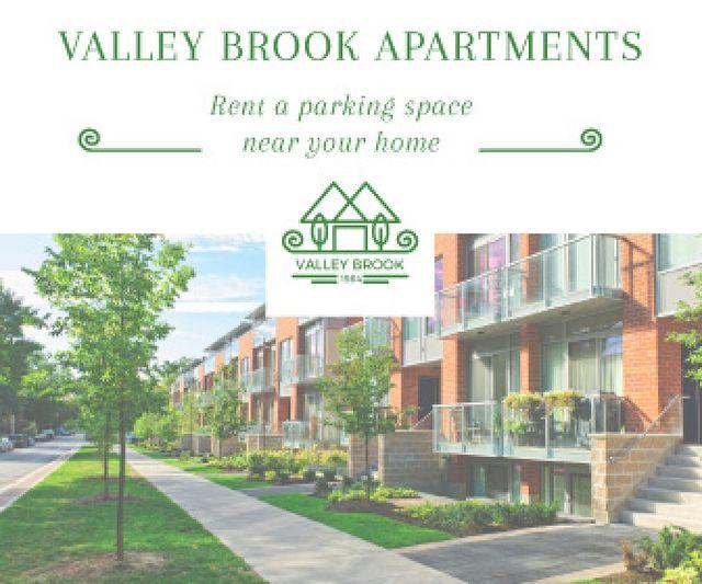 Valley brooks apartments advertisement Large Rectangle Modelo de Design
