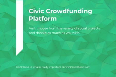 Civic Crowdfunding Platform Gift Certificateデザインテンプレート
