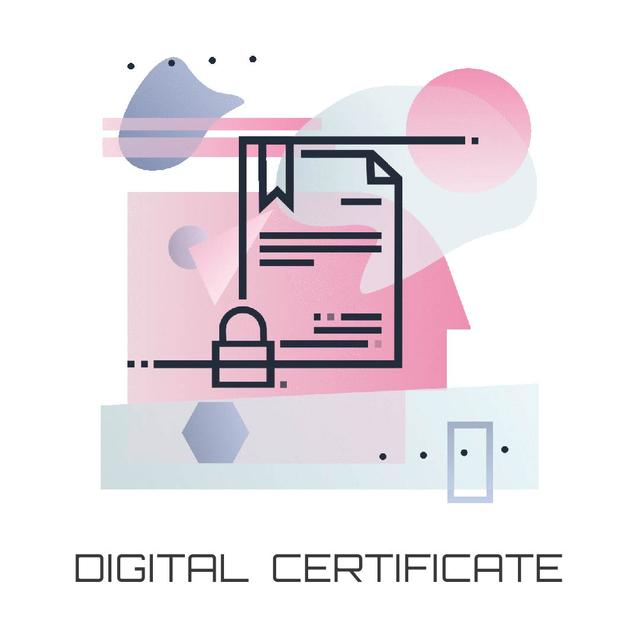 Document with lock icon Animated Post Modelo de Design