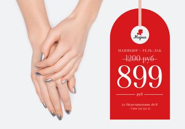 Beauty Offer with Tender Female hands
