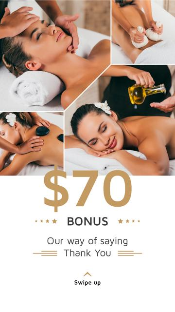 Template di design Spa Center Promotion Woman at Massage Instagram Story