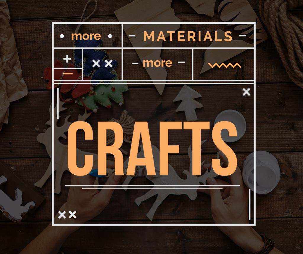Woodwork Workshop Ad Man Carving and Painting — Crea un design