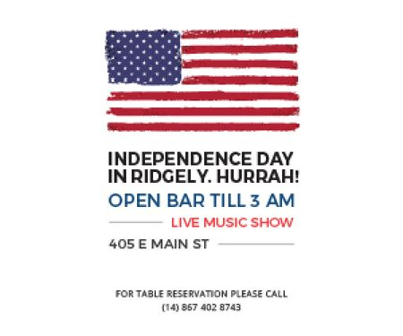 Modèle de visuel Independence day in Ridgely - Medium Rectangle
