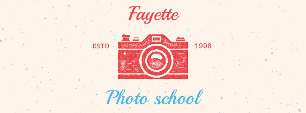 Photo School Ad Stamp of Camera — Create a Design
