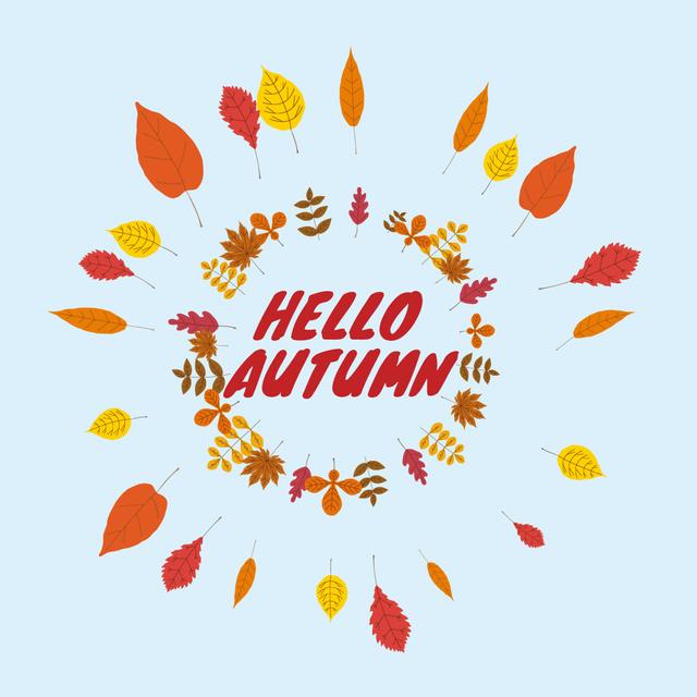 Plantilla de diseño de Autumn leaves frame Animated Post