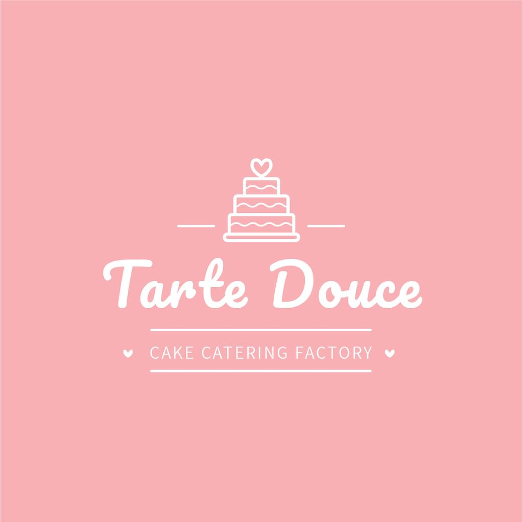 Bakery Ad Layered Pink Cake | Logo Template — Crea un design