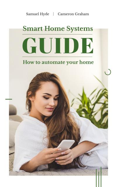 Plantilla de diseño de Woman using the phone Book Cover
